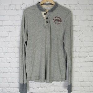 Abercrombie & Fitch Shirt Top Mens Large L Gray